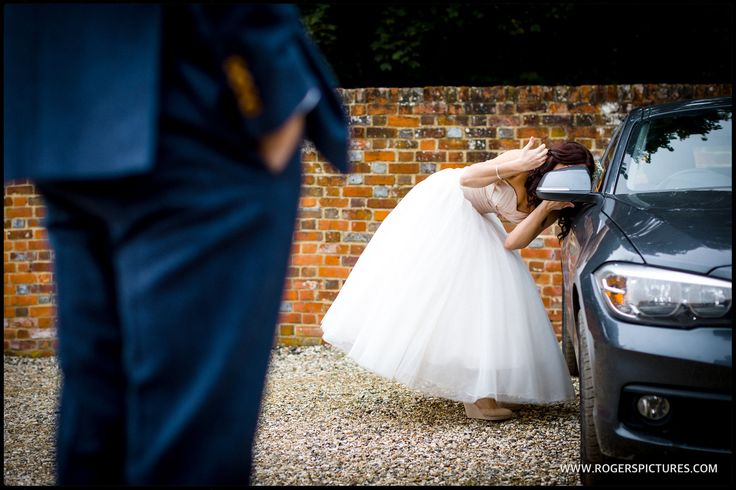 A quick make-up adjustment before some portraits at this wonderful woodland wedding -