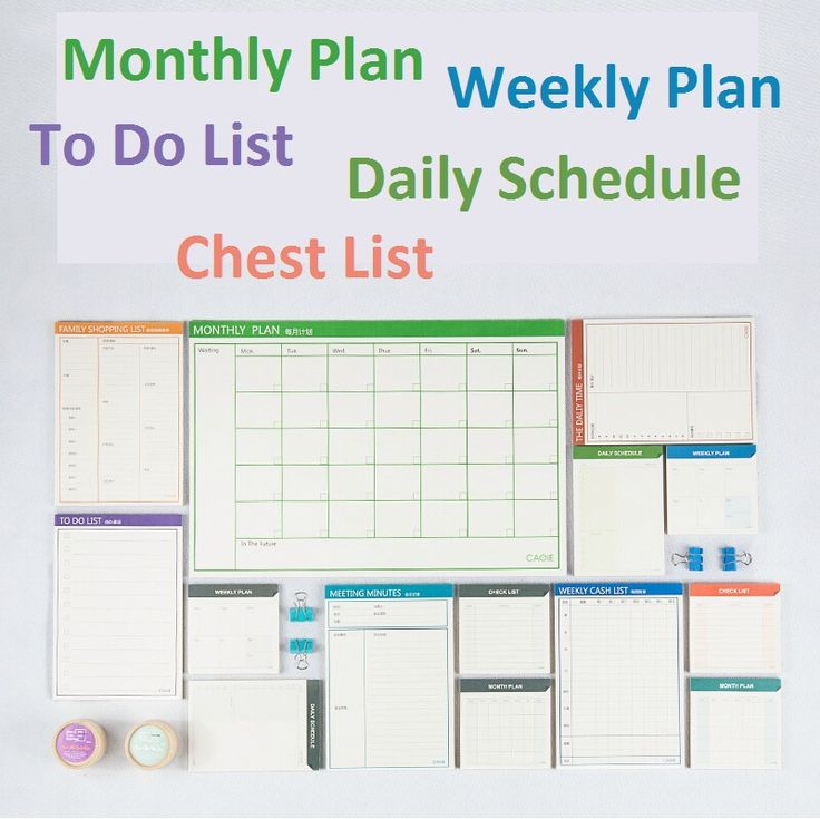Planificador mensual planificador semanal planificador diario organizador ; horario diario ; lista de verificación ; To do ; reunión minutos de la familia ; la lista de la compra en Libretas de Escuela y Oficina en AliExpress.com | Alibaba Group