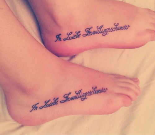 17 Best Ideas About Sister Foot Tattoos On Pinterest