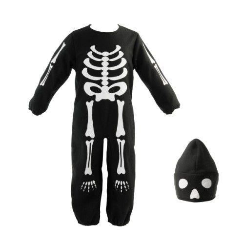 Cette combinaison transforme l'enfant en squelette effrayant. Il se promène dans la maison et fait peur à tous ceux qu'il rencontre. Ce déguisement est parfait pour la fête d'Halloween.