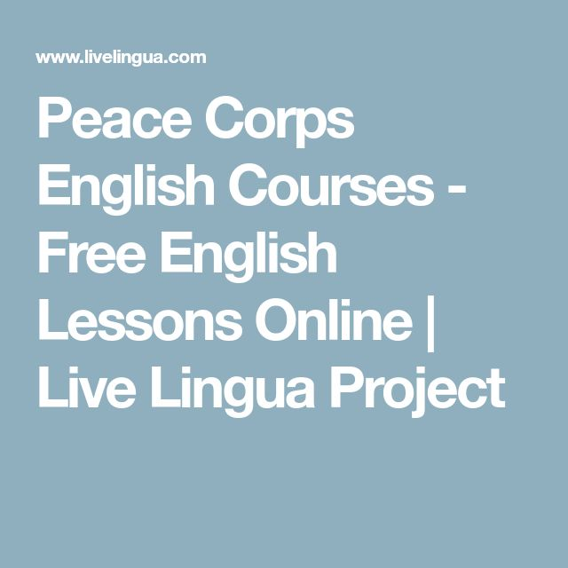 Peace Corps English Courses - Free English Lessons Online   Live Lingua Project