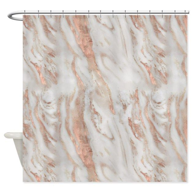Rose Gold Marble Shower Curtain By Susaneileenevans Rose Gold