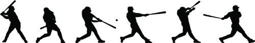 Baseball Player Batting Sequence Silhouette Wall Sticker Wall decor Removable and Repositionable Wall decal Wall mural Epic Designs http://www.amazon.com/dp/B00B0QQFK2/ref=cm_sw_r_pi_dp_UCLIub14304TV