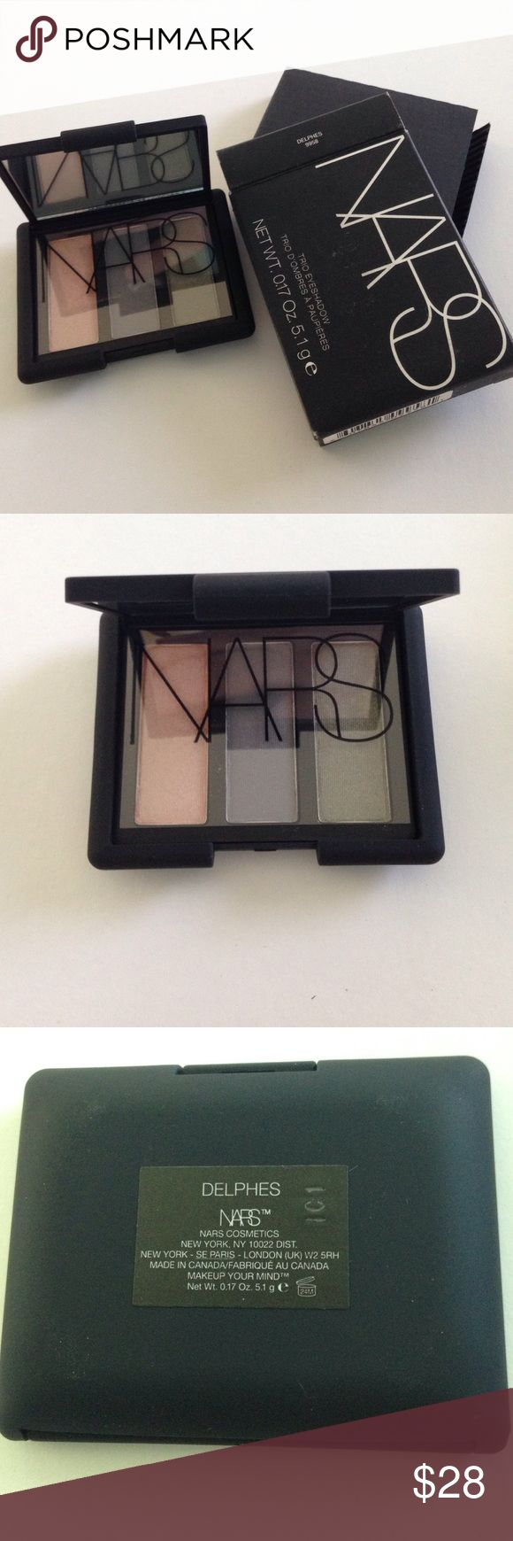 Brand New Authentic NARS Eyeshadow Trio Delphes Brand New Authentic NARS Eyeshadow Duo Delphes in original packaging. Never swatched. No trades. NARS Makeup Eyeshadow