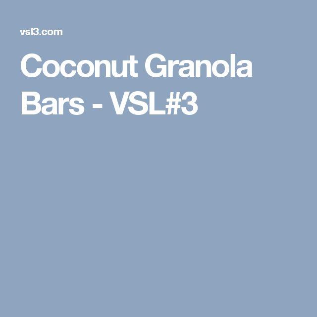 Coconut Granola Bars - VSL#3