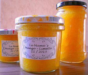 Mango - Limetten - Marmelade, ein sehr schönes Rezept aus der Kategorie Aufstrich. Bewertungen: 5. Durchschnitt: Ø 3,6.