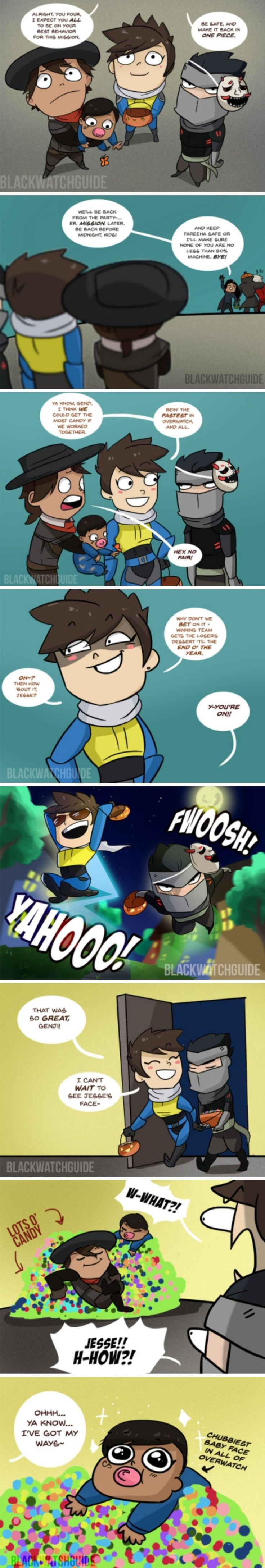 Overwatch comic - Overwatch and Blackwatch Kids