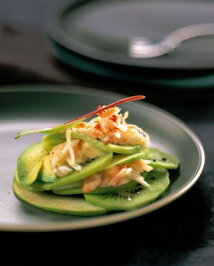 Salade acidulée de kiwi au crabe                                                                                                                                                                                 Plus