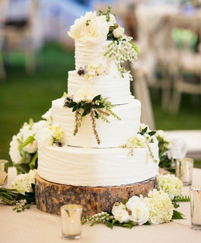 20 Ways To Decorate Your Wedding Cake With Fresh Flowers: Inspiration Für Die Eigene