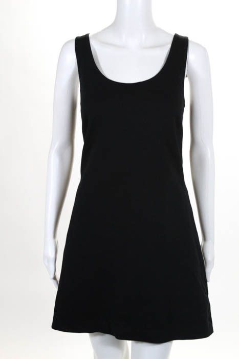 Awesome Great Theory Black Cutout Back Sleeveless Body Con Back Little Black Dress Size 12 2017 2018