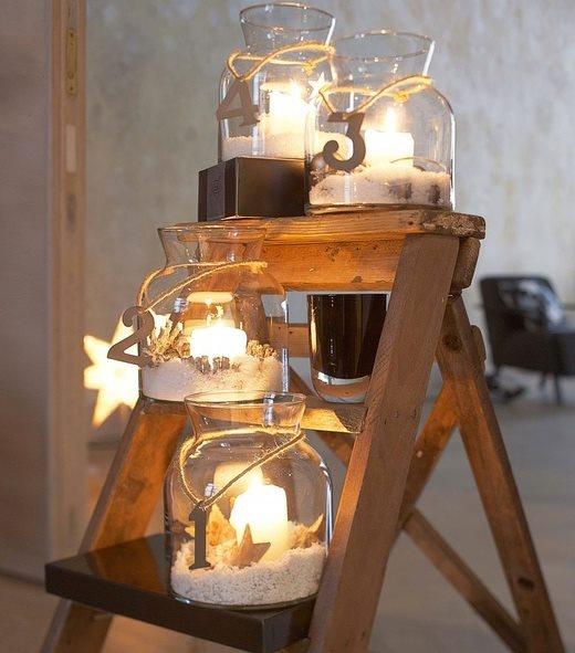 #christmas #calendar #advent #winter #wintermood #snow Advent. Use mason jares and tea lights epson salt