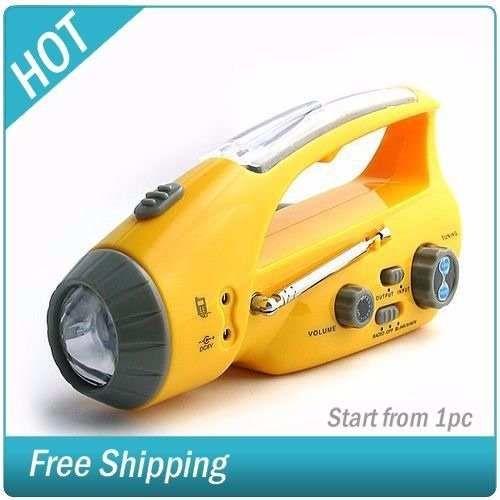linterna con radio fm-am 3 luces led xln-288ds portatil