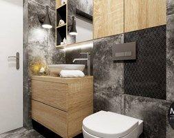Łazienka w elementami drewna - zdjęcie od MONOstudio