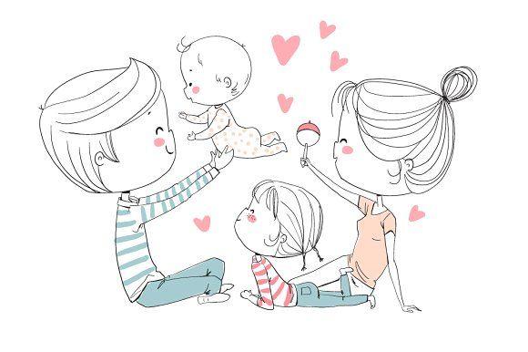 Happy Family By Natalia Skripko On Creativemarket Family