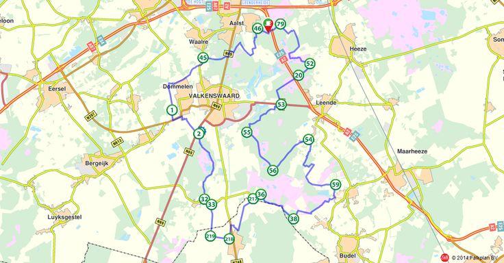 Fietsroute 151244: De bossen en heide rondom Valkenswaard (http://www.route.nl/fietsroutes/151244/De-bossen-en-heide-rondom-Valkenswaard/)