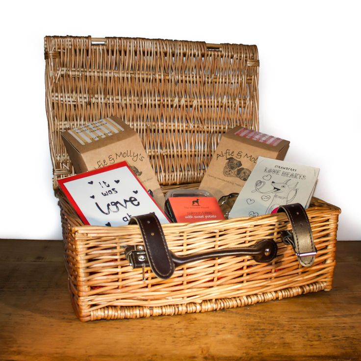 Spoil your dog on Valentines Day with this gourmet hamper, packed full of delicious artisanal treats.