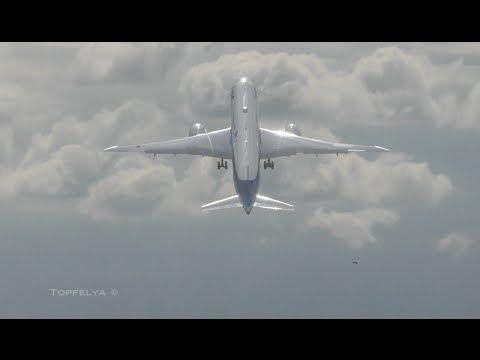 ボーイングドリームライナーSurprize 787-9ファンタスティックフライング表示ANA航空会社ファーンバラ2016