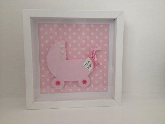 Handmade baby girl  nursery box frame decoration by workedwithlove, £14.95
