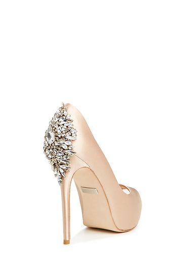 Embellished Heels in Rose Gold