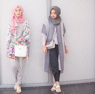 Memadupadankan Outerwear Lengan Pendek yang Populer Dipakai Selebgram Hijab