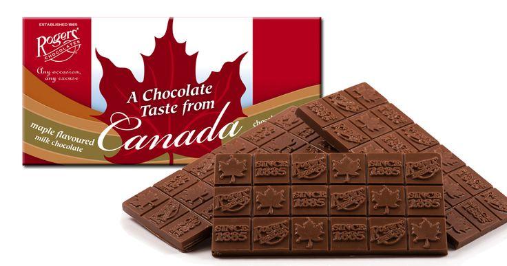 Rogers' Chocolates - A Taste of Canada - Maple Flavoured Milk Chocolate Bar