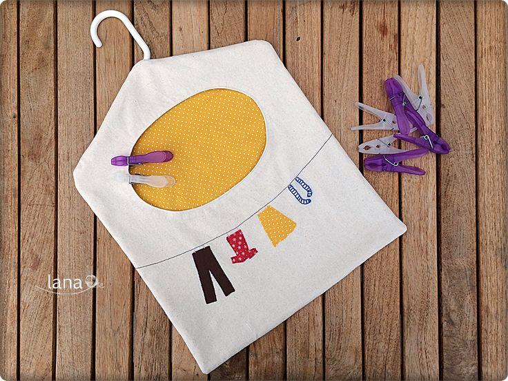Vrecko na štipce / Peg bag - free pattern & tutorial
