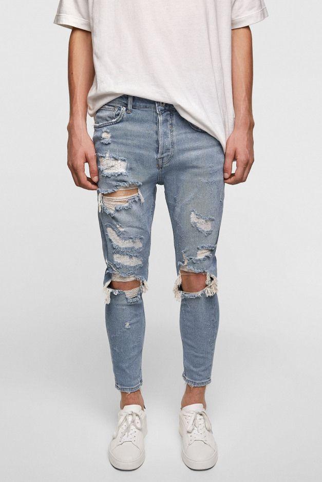 Ripped Skinny Jeans Men Sjeans Men S Jeans Skinny Ripped Jeans Men Jeans Outfit Men Mens Fashion Jeans