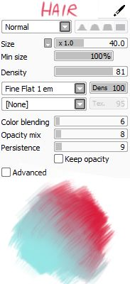 """kagamii: """" here are my brush settings! i appreciate them a lot (sweats) texture download: x """""""
