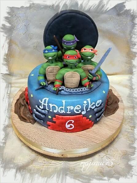 Ninja korytnačky, torty pre deti, cakes for kids, Autorka: Majana75, tortyodmamy.sk