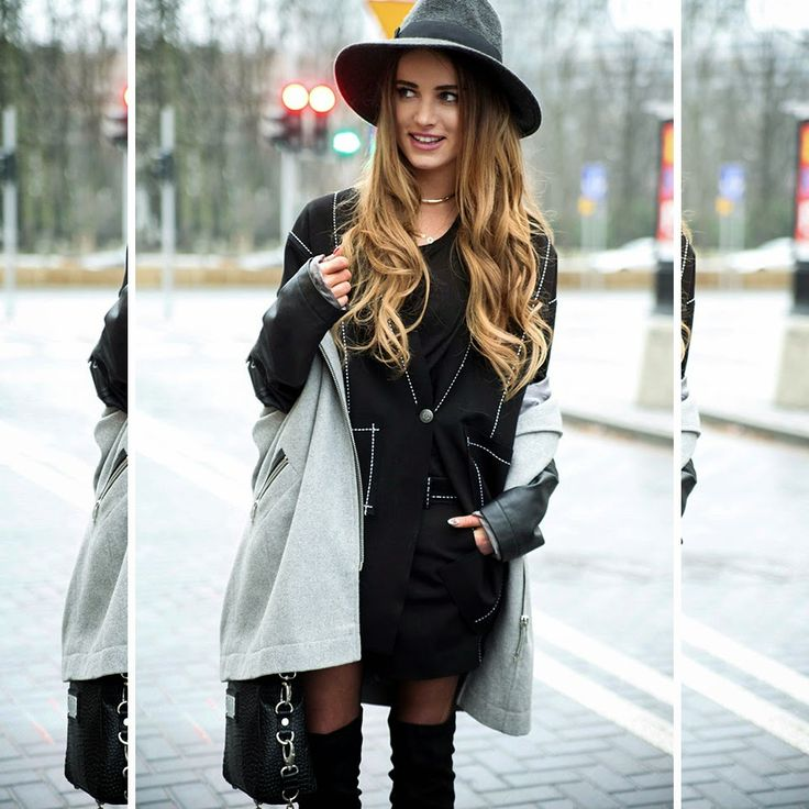 13/01/15 MAFFASHION fot Krzysztof Adamek  shoes Sequin.pl / hat Parfois / shorts, blazer Yoshe / coat TopShop / bag Sabrina Pilewicz / tshirt second hand
