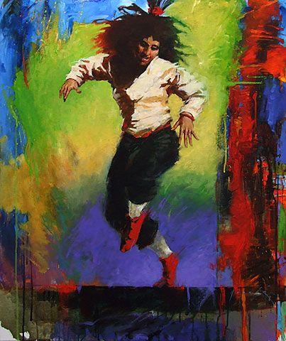 New Zealand Portrait and figurative Artist Paul Hooker   New 2013 Dancer 3   Acrylic on Canvas 91cm x 61cm