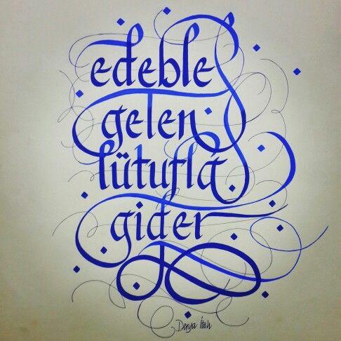 My calligraphy.