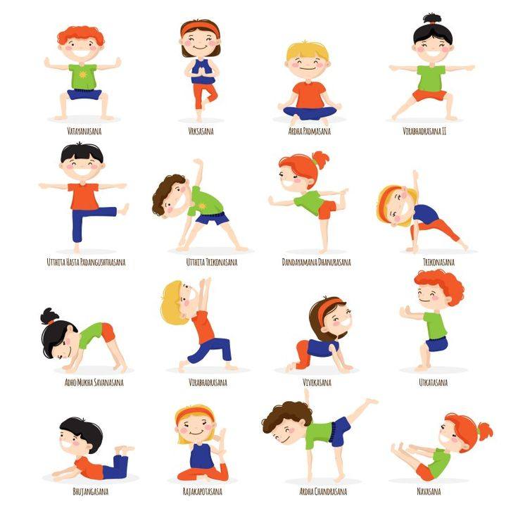 """Yoga has lots of mental and spiritual benefits. If you are doing yoga or planning to do - then Click the """"visit"""" button below to find some of the easiest, yet beneficial yoga workout plans for beginners. Yoga Poses Names, Kids Yoga Poses, Yoga Poses For Beginners, Yoga For Kids, Exercise For Kids, Preschool Yoga, Preschool Activities, Image Yoga, Stretches For Kids"""