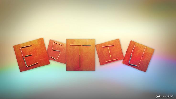 Letras hechas con lapices de colores