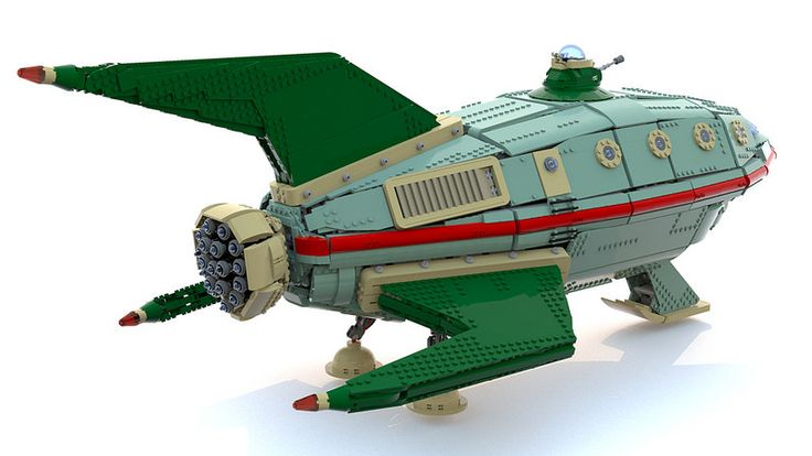Science Fiction | Movie | Futurama | Lego UCS Planet Express Ship | von Nicola Stocchi