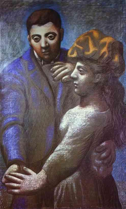 """Pablo Picasso """"La Dance """". 1922. Pastel on canvas."""