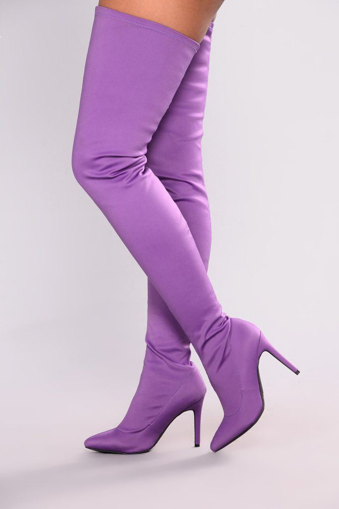 9660d795b10 Keyana Thigh High Boot - Purple
