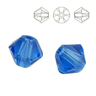5328 Bicone 6mm Sapphire 10 pieces  Dimensions: 6,0mm Colour: Sapphire 1 package = 10 pieces