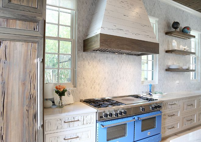 Two-toned kitchen cabinets are black cypress and pecky cypress for the white cabinets. Two-toned kitchen cabinets are black cypress and pecky cypress for the white cabinets. #Twotonedkitchen Old Seagrove Homes.