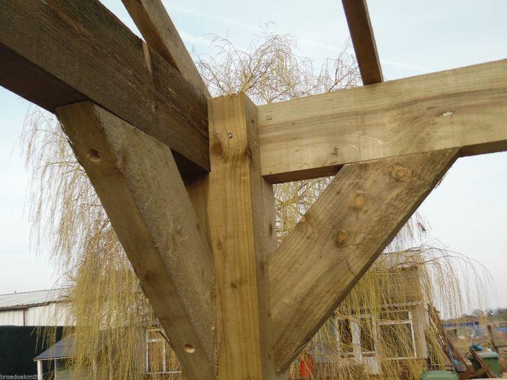 Details About Wooden Garden Shelter Frame Gazebo Cart