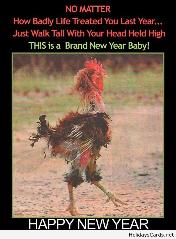New year funny demotivational poster