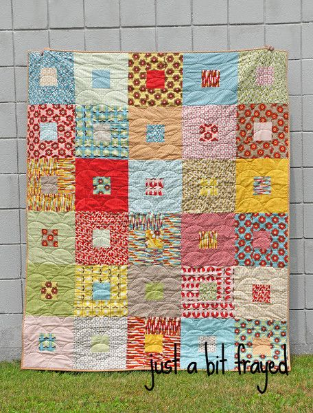 Boho quilt by Brenda at Just a Bit Frayed. I love this quilt! @Brenda Franklin - Just a Bit Frayed