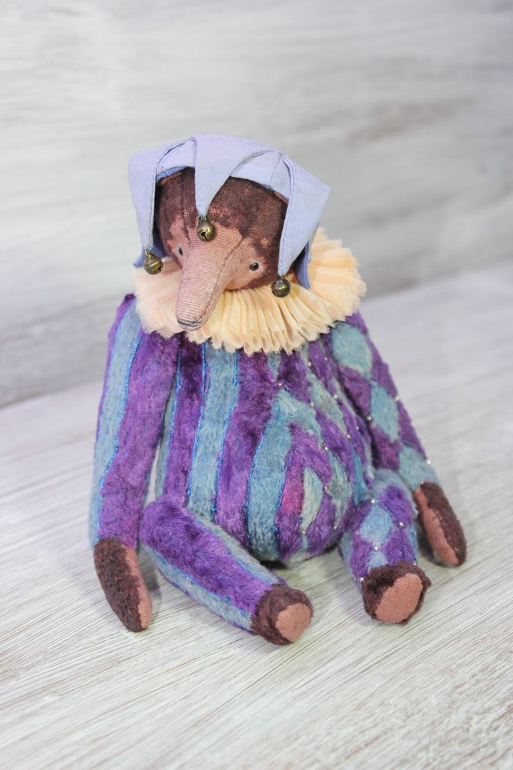 "Teddy bear harlequn ""Lambertus""- Olesya Morozova"