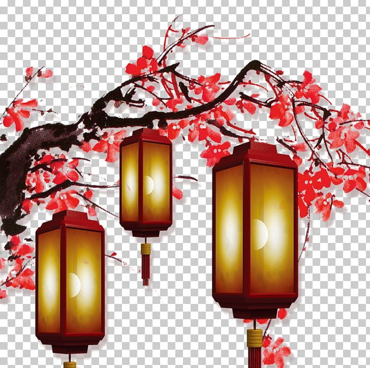 Chinese New Year Lantern Png Bloom Branch Chinese Chinese Style Christmas Chinese New Year Background Chinese New Year Wallpaper Chinese Wallpaper