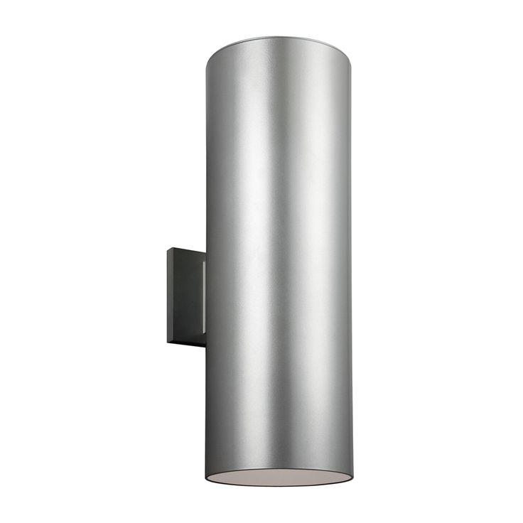 """18"""" tall. Shop Sea Gull Lighting  8313902 Outdoor Bullets Large 2 Light Outdoor Wall Sconce at Lowe's Canada. Find our selection of outdoor wall lighting at the lowest price guaranteed with price match + 10% off."""