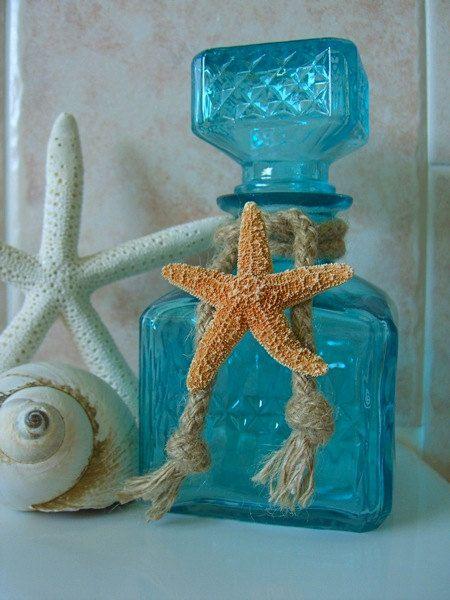 Home Decor Tiffany Blue Starfish Decorative by sandnsurfcreations, $21.95