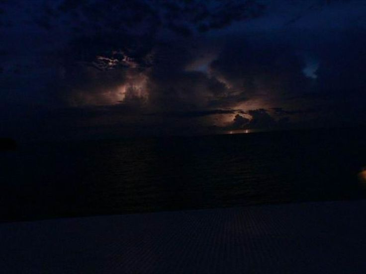 Thunders and lightnings on the Belize July sky