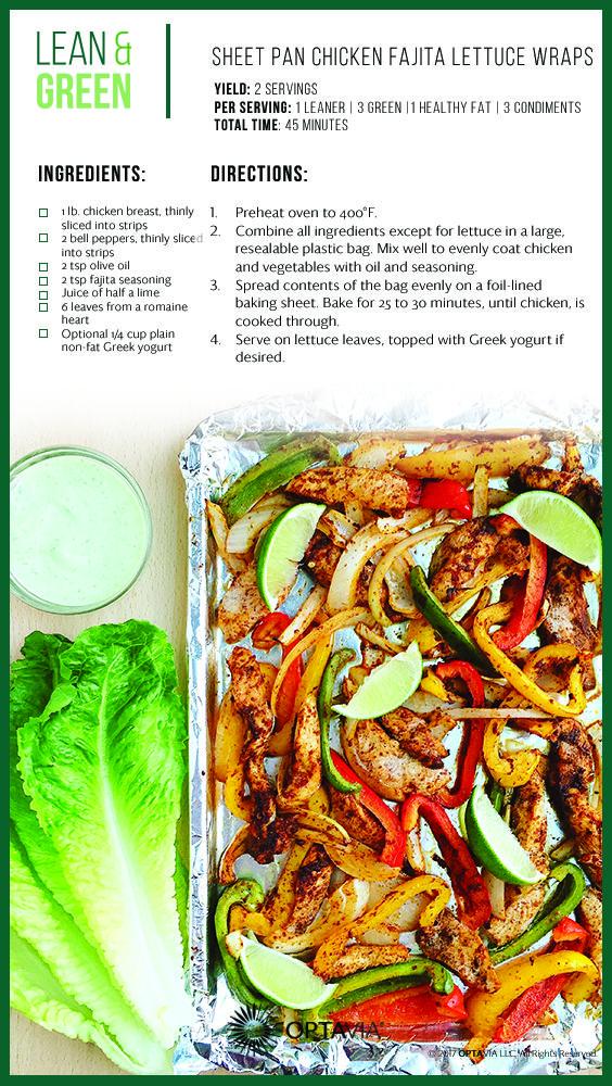 Sheet Pan Chicken Fajita Lettuce Wraps Discover Optavia Inspiration Amp Recipes Lean Green