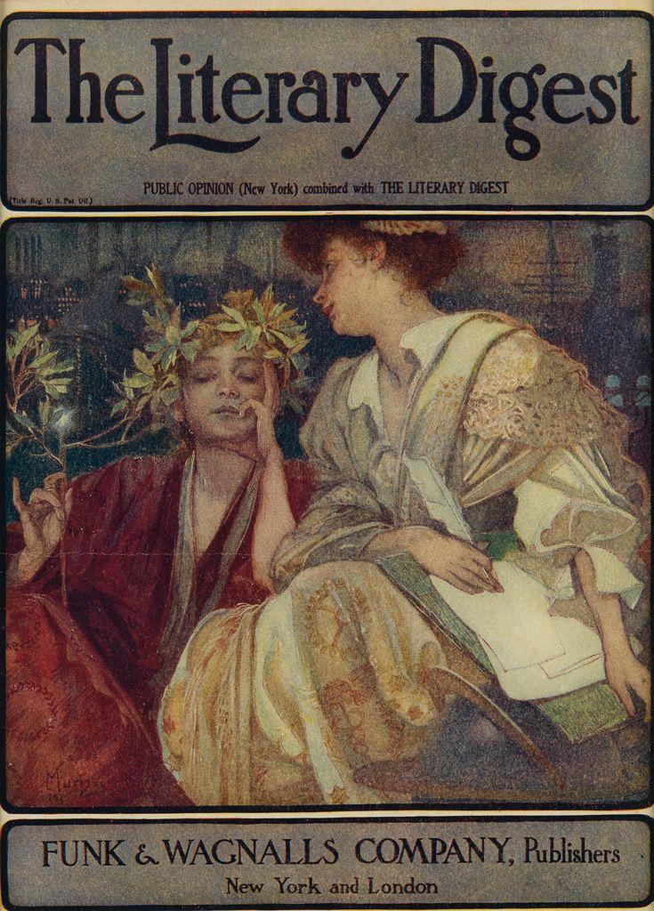 ALPHONSE MUCHA (1860-1939) THE LITERARY DIGEST. Magazine cover. 1910.