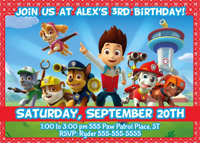 17 Best images about Paw Patrol Party Ideas on Pinterest